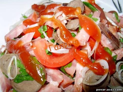 Салат с сердцем и помидорами рецепты с