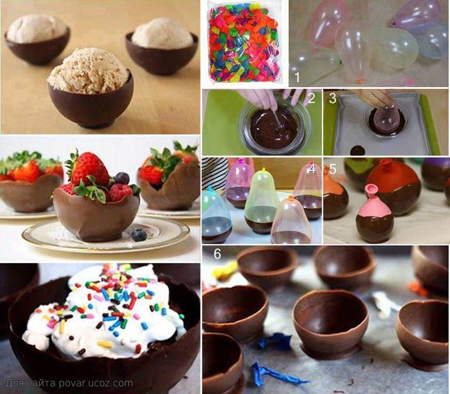 Декор десертов шоколадом